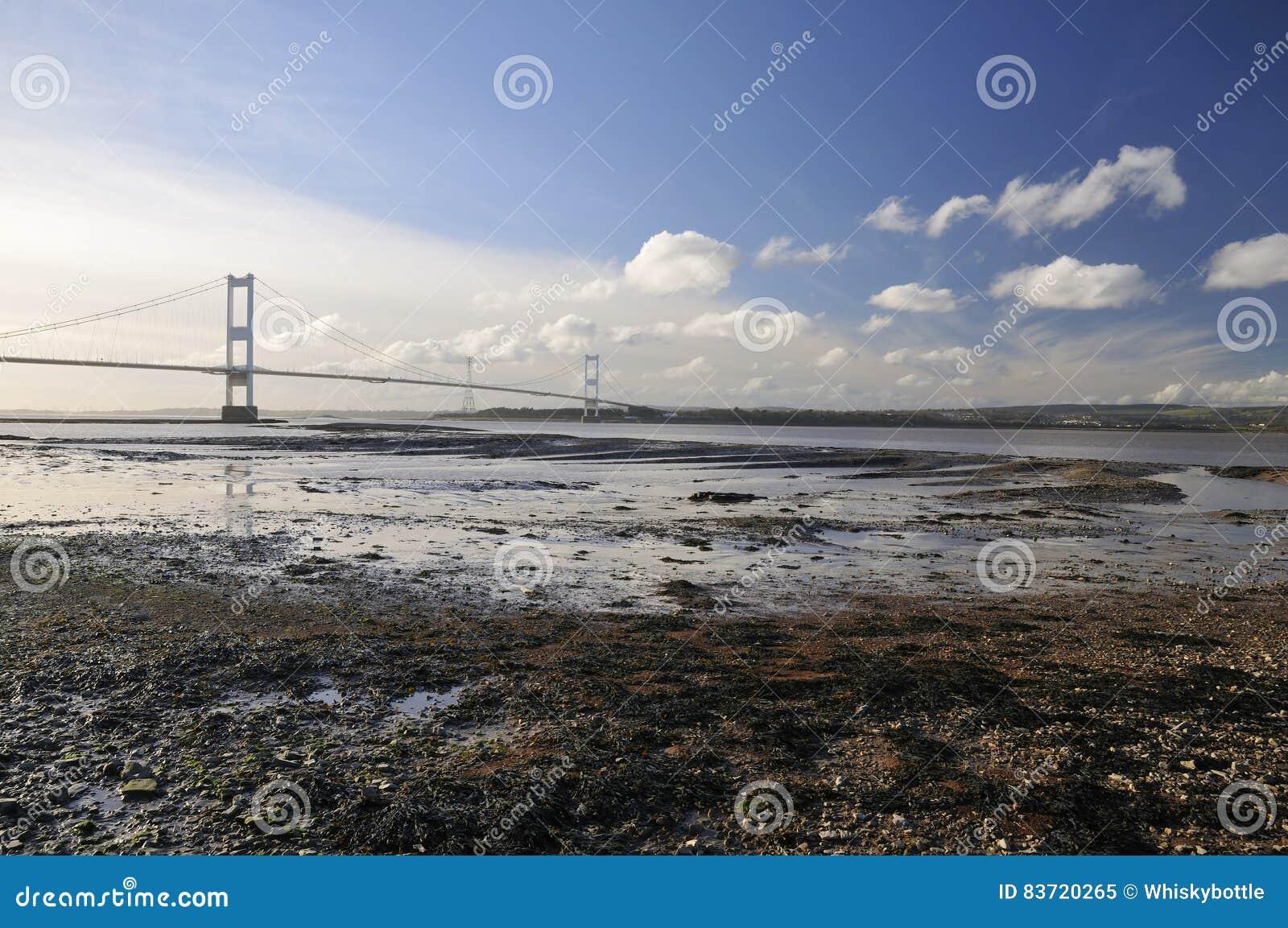 Aust Rock & The Severn Bridge Stock Photo
