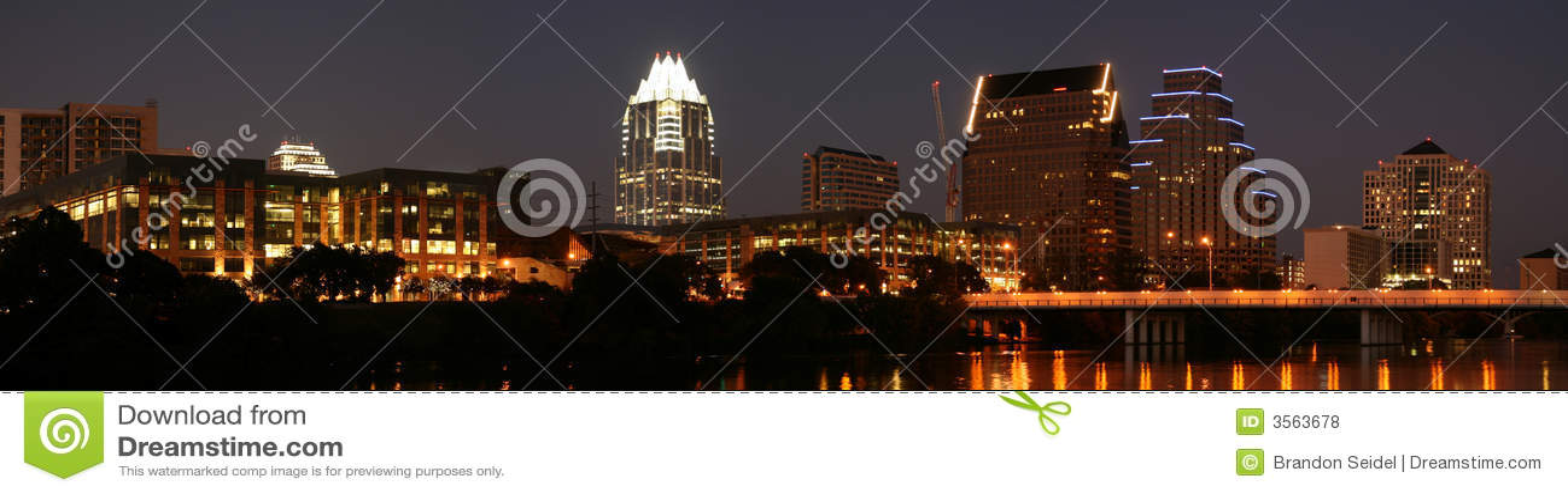 Austin del centro, il Texas alla notte
