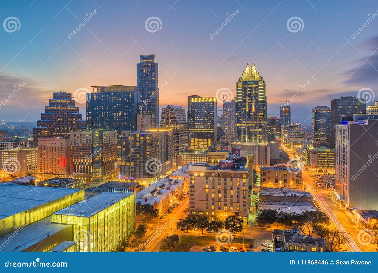 Austin, il Texas, paesaggio urbano di U.S.A.