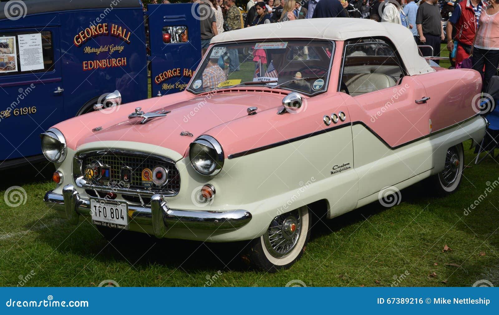 Classic Car Bumpers : Austin metropolitan classic vintage car editorial photo