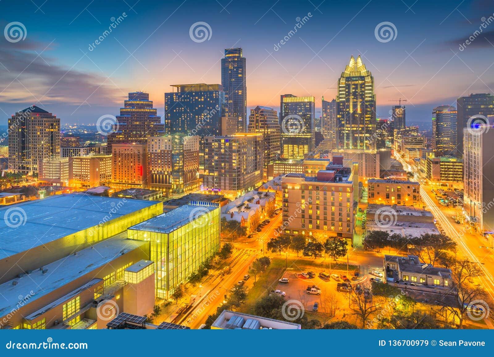 Austin, Texas, arquitetura da cidade do centro dos EUA