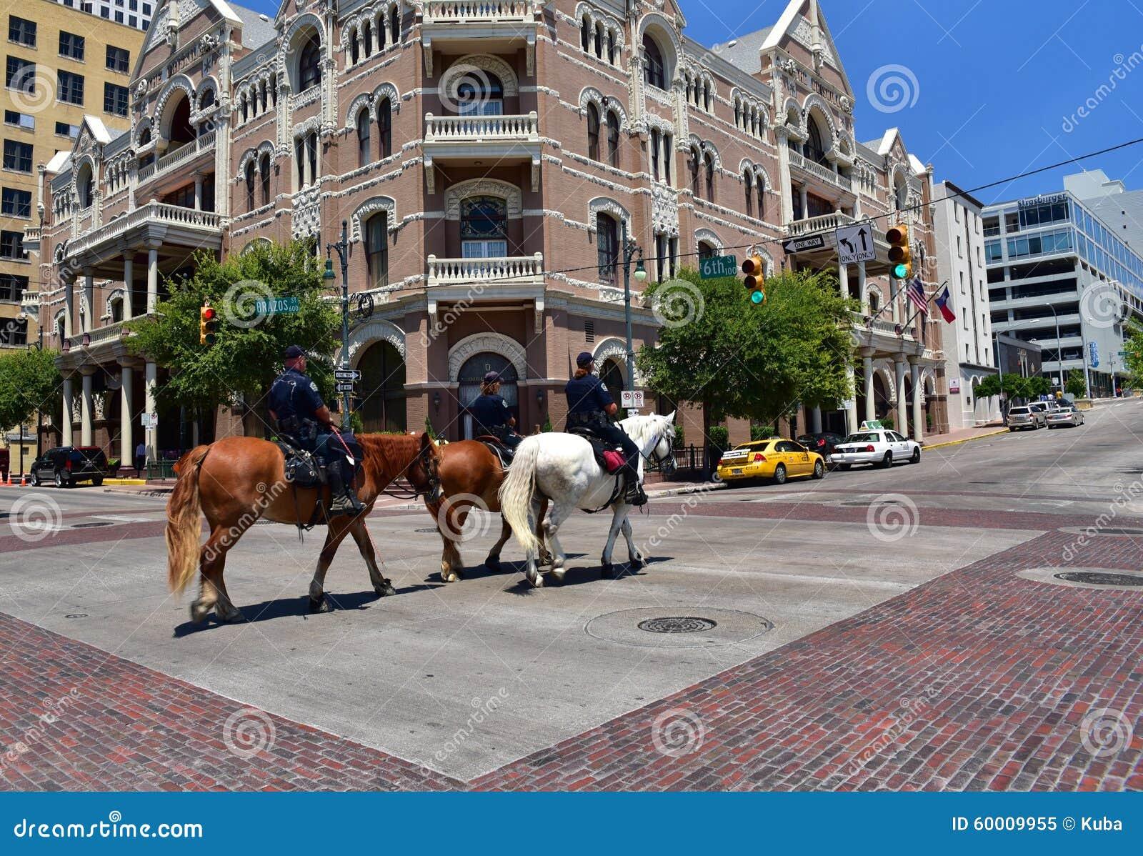 Austin Texas in den Vereinigten Staaten von Amerika - August 2015 Drei Pol