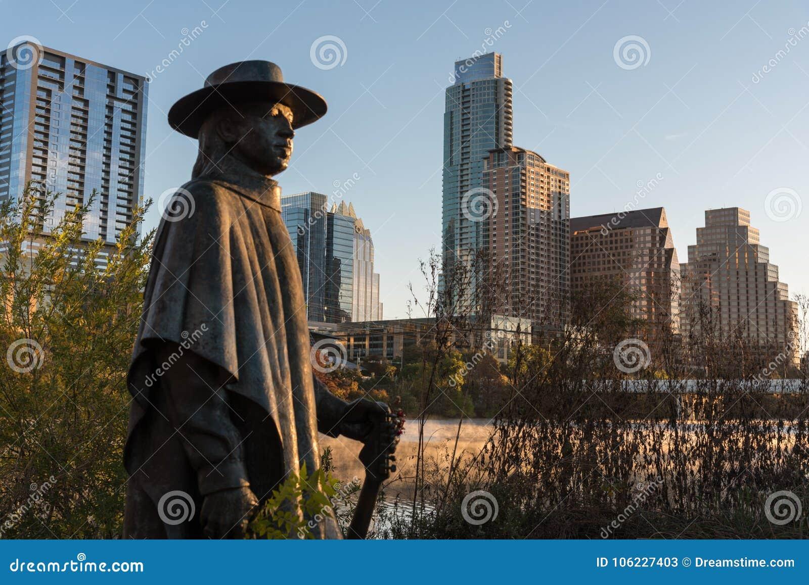 Austin Texas Stevie Ray Vaughan Statue all alba