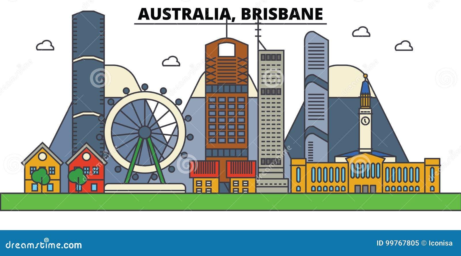 Austrália, Brisbane Arquitetura da skyline da cidade