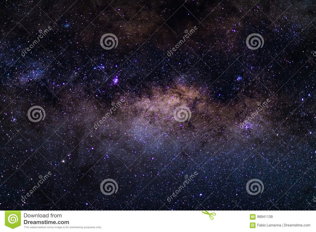 The austral Milky Way, with details of its colorful core, outstandingly bright. Captured from the Southern Hemisphere.