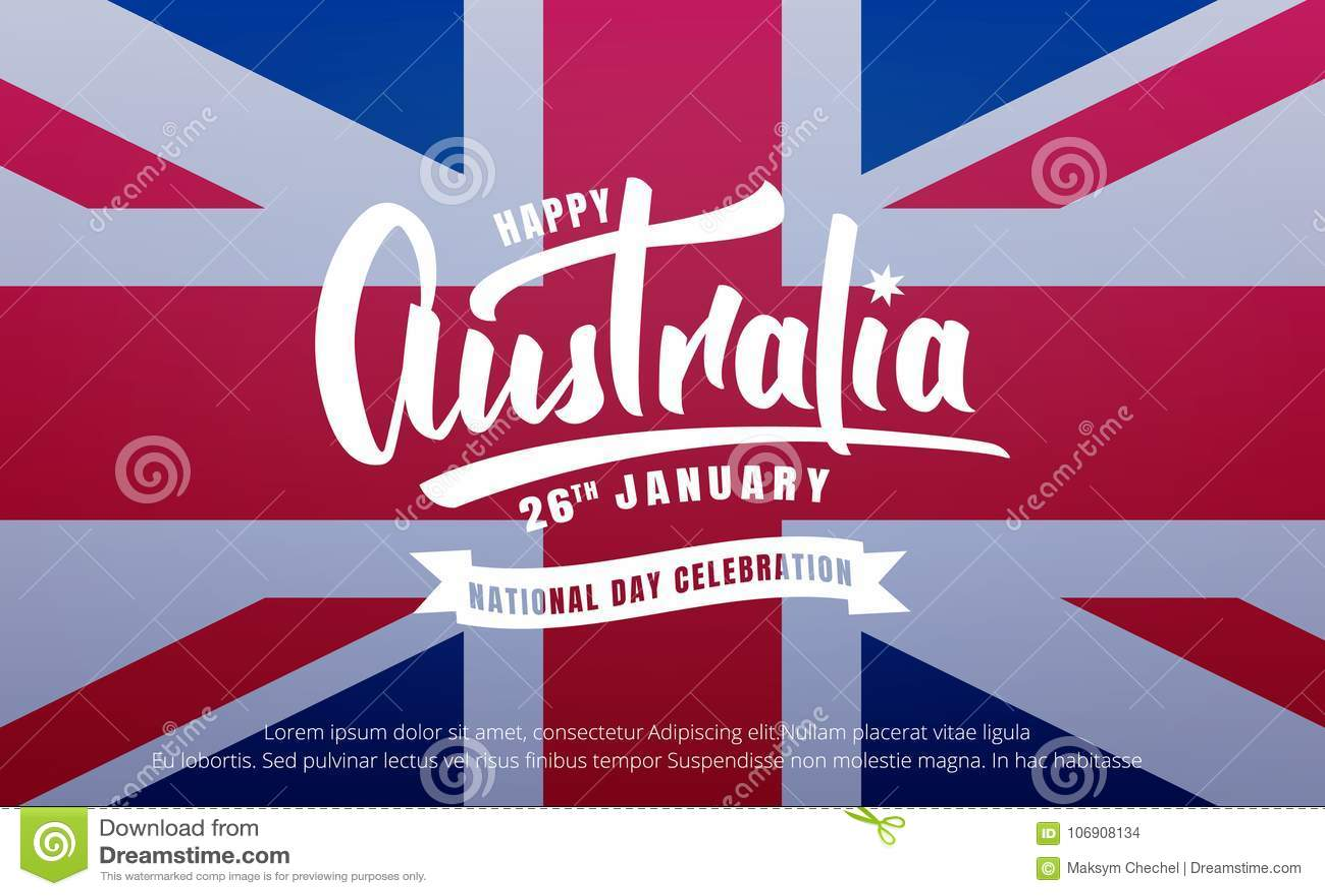 Australia balonowe dzień flaga prezenta ikony ustawiać Sztandar dla Australia święta państwowego z Australia literowaniem i flaga