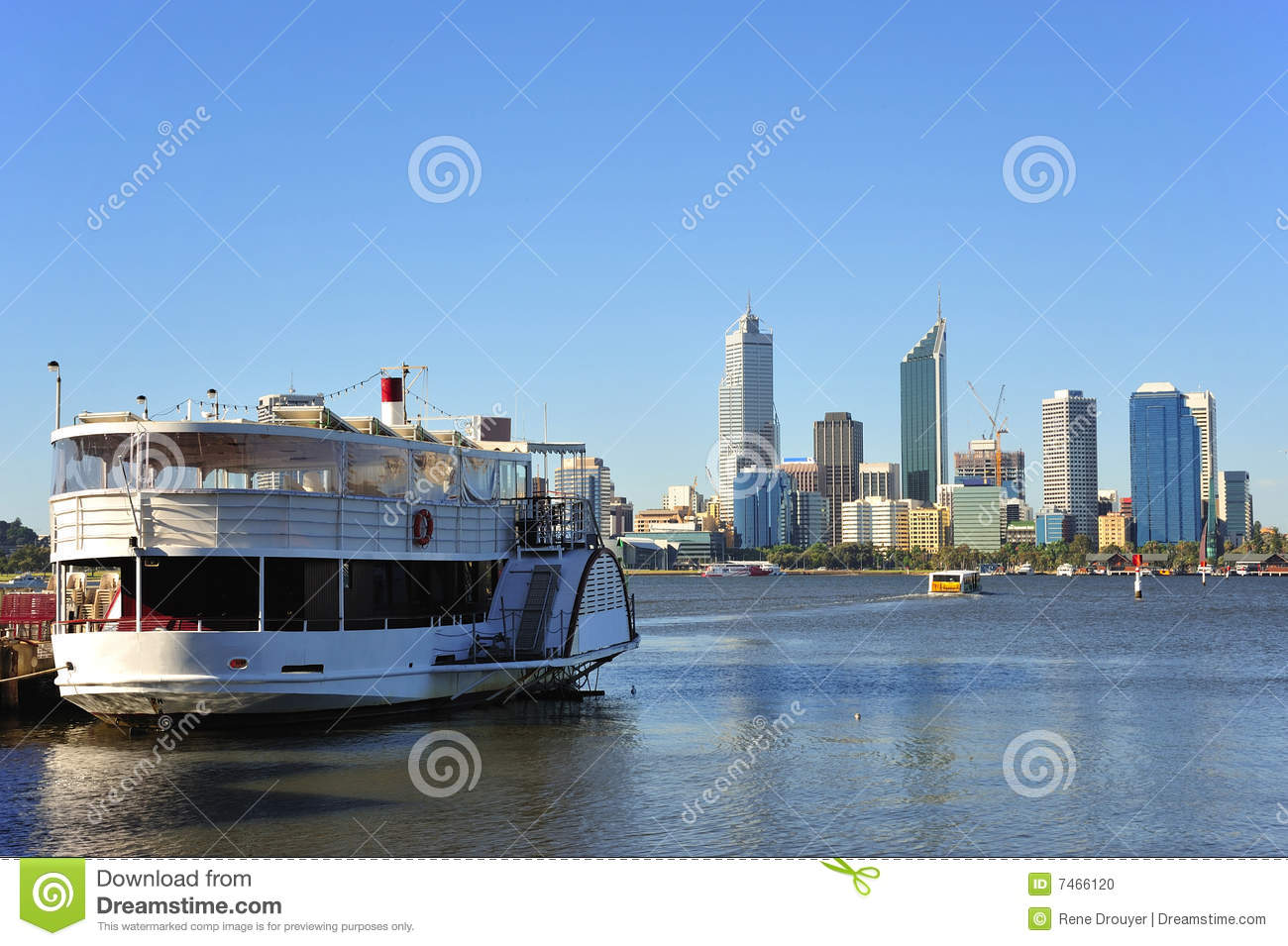 In Australia A Panoramic View Of The Modern Perth 39 S City With The Swan