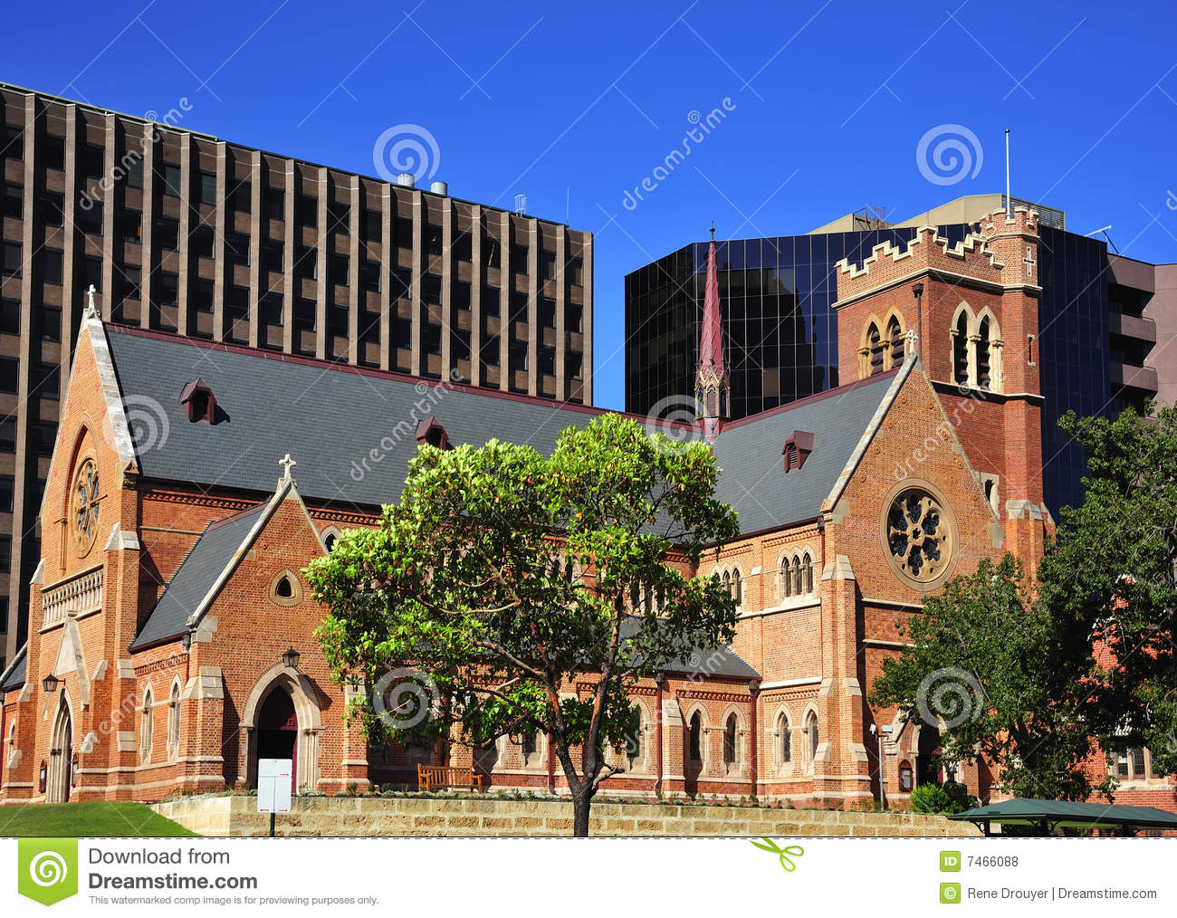 St George Australia  city pictures gallery : In Australia in the city of Perth View of Georges Cathedral an old ...
