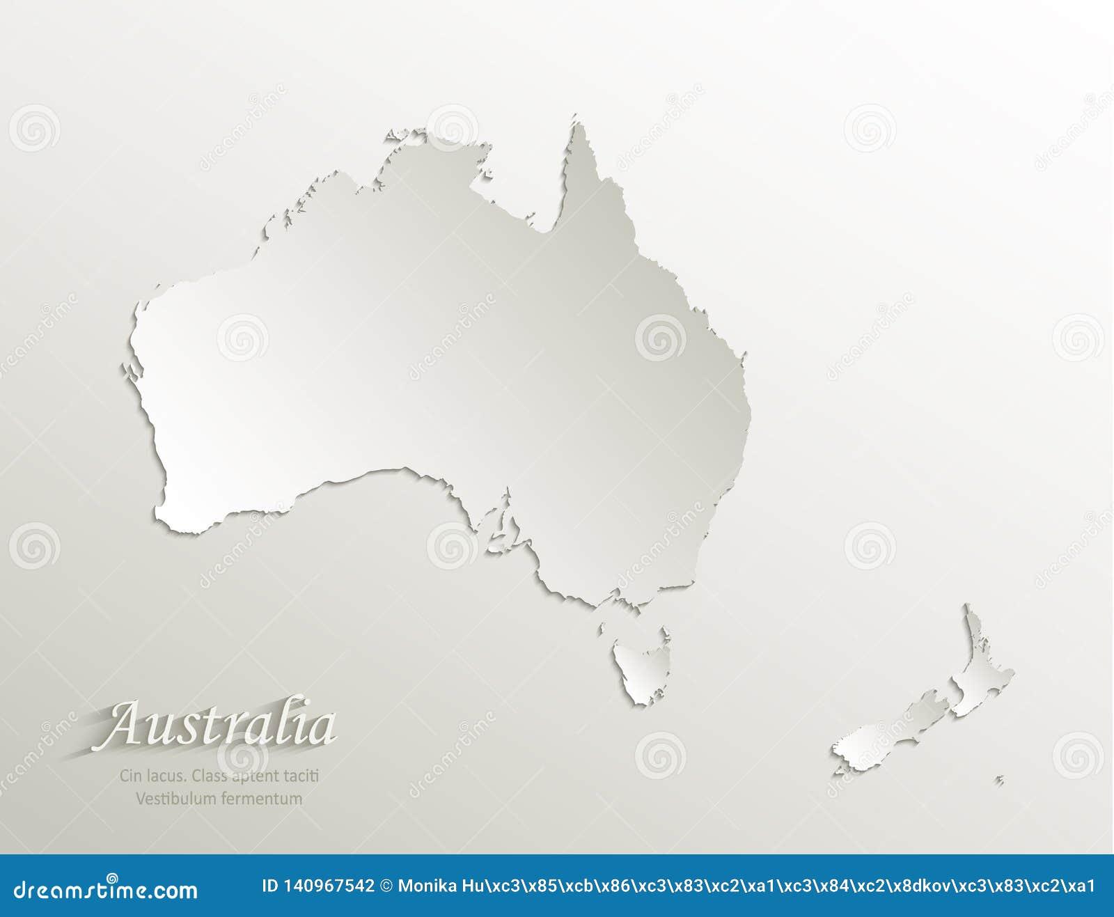 3d Map Of New Zealand.Australia Continent Map New Zealand Natural Paper 3d Card Stock