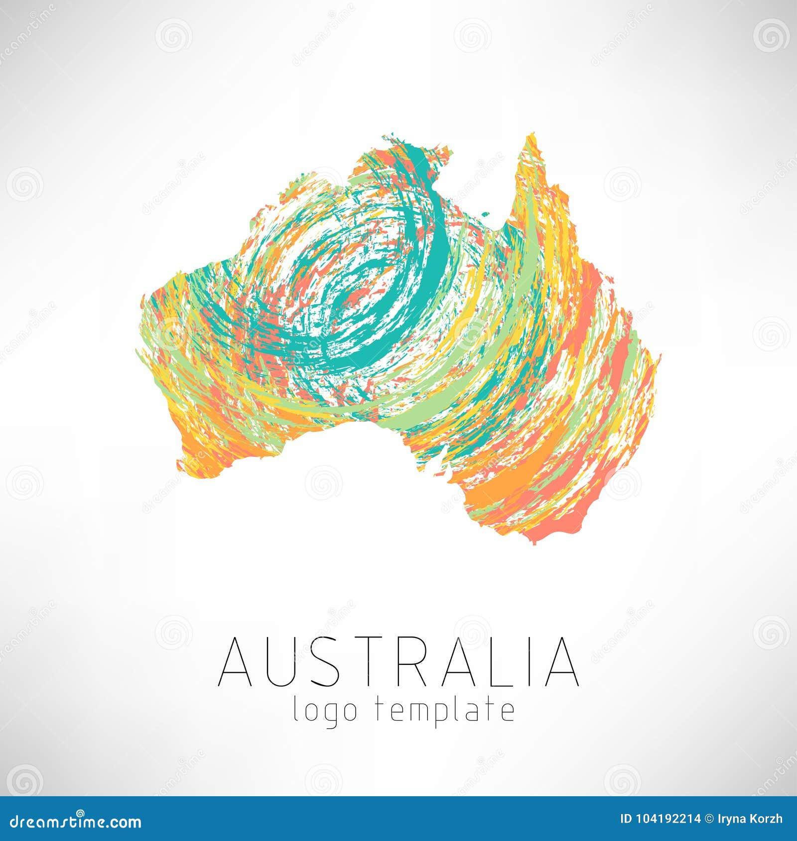 Australia Map Shape.Australia Creative Designed Silhouette Map Stock Illustration