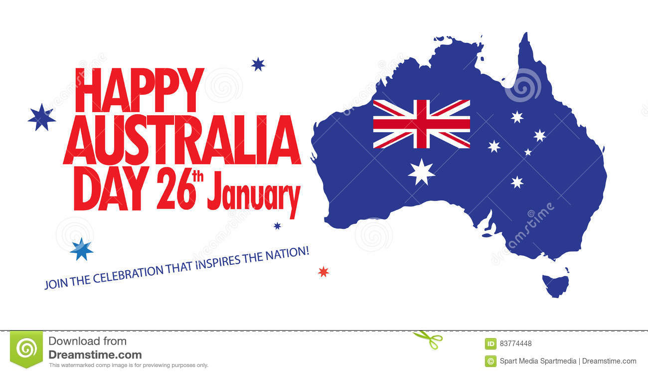 Map Of Australia 26th Parallel.Australia Day Stock Vector Illustration Of Advertisement 83774448