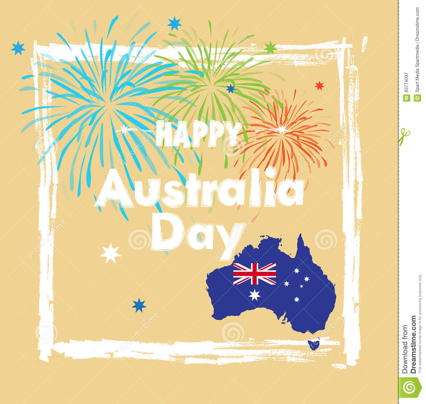 Map Of Australia 26th Parallel.Australia Day Stock Vector Illustration Of Asian 2017 83774097
