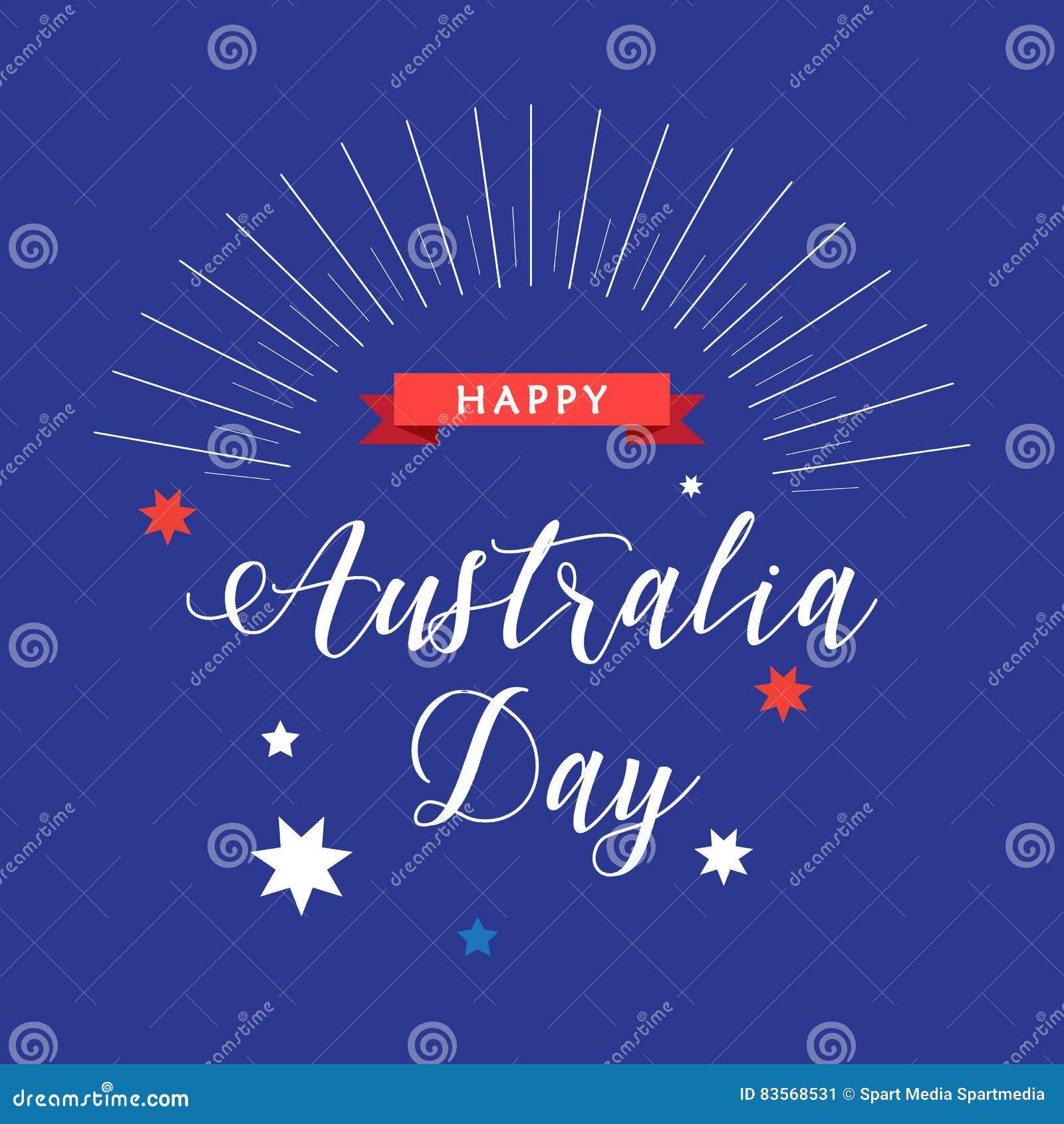 Australia Day Stock Vector Illustration Of Australian 83568531