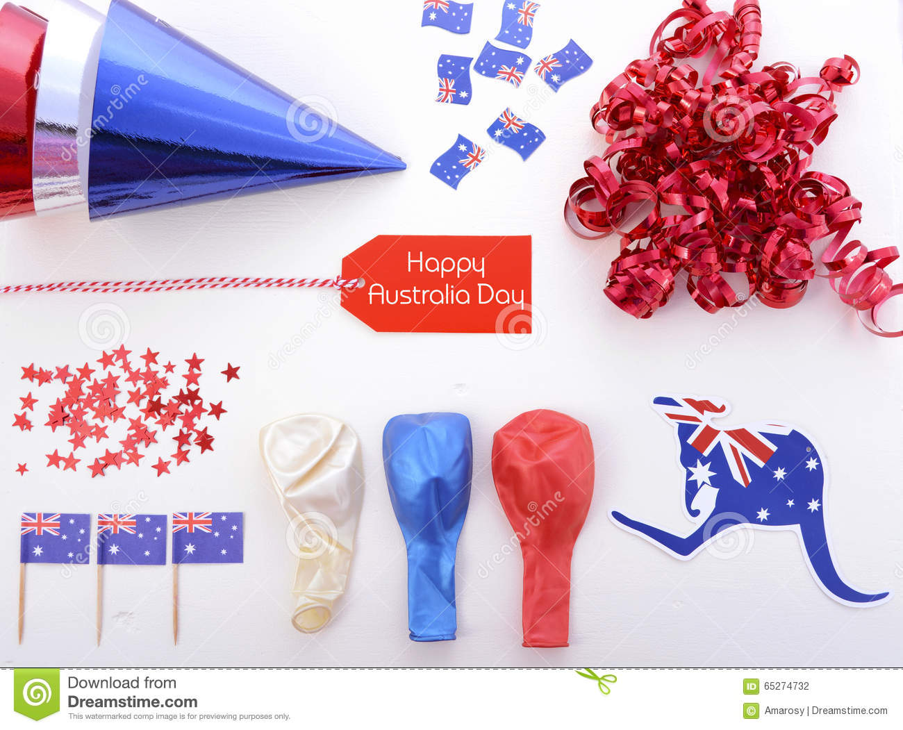 Australia day party decorations stock photo image 65274732 for Australian decoration ideas
