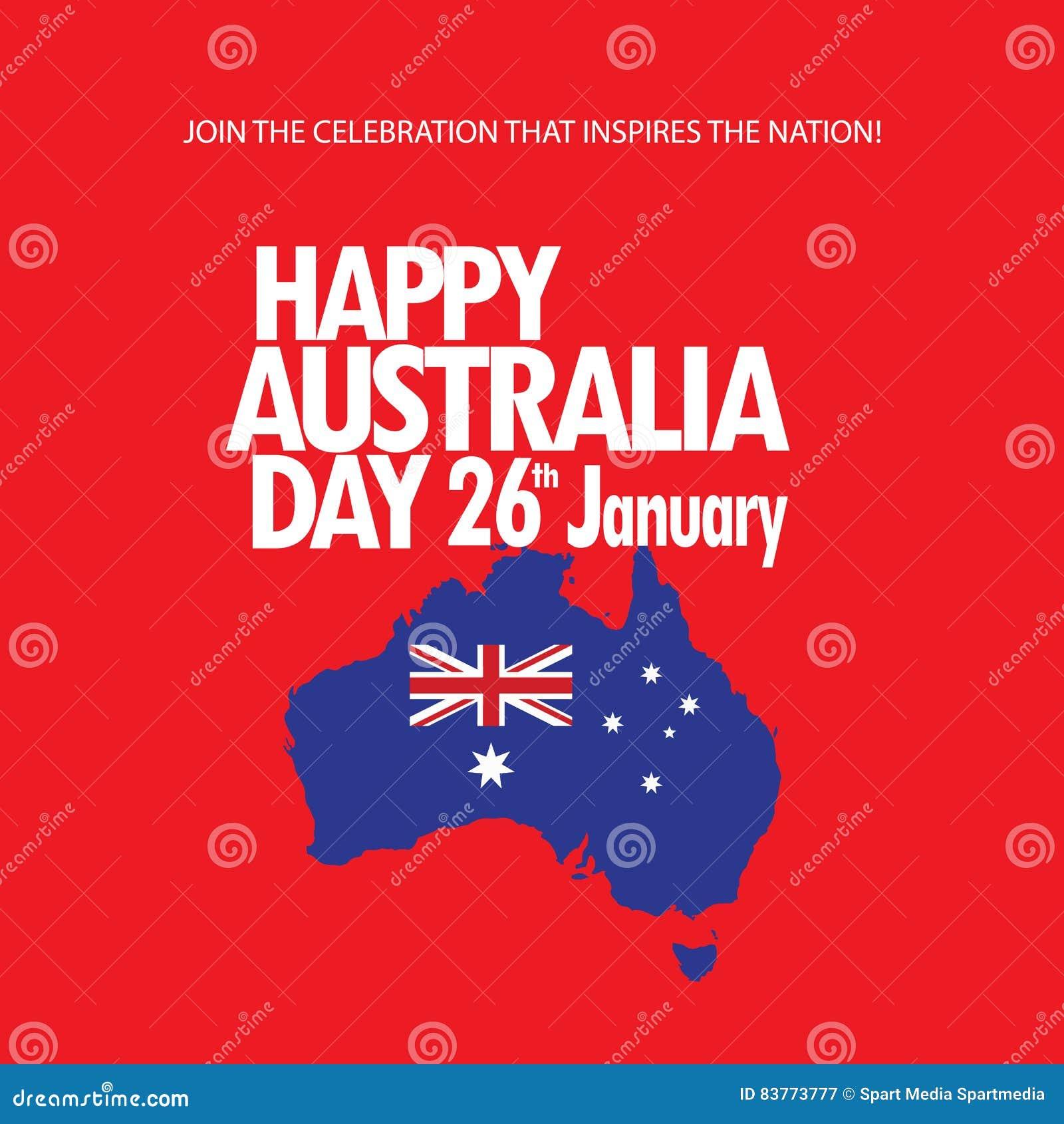 Australia Day Stock Vector Illustration Of Asian Event 83773777