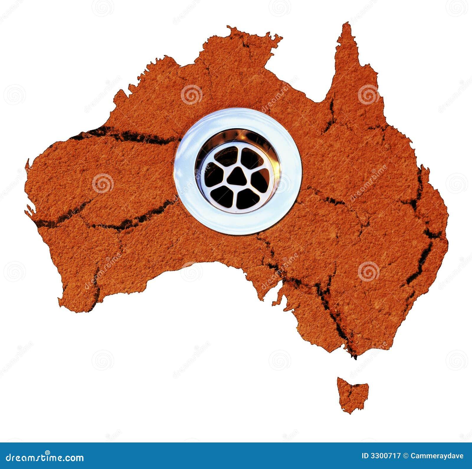 Australia Drought Water Drain