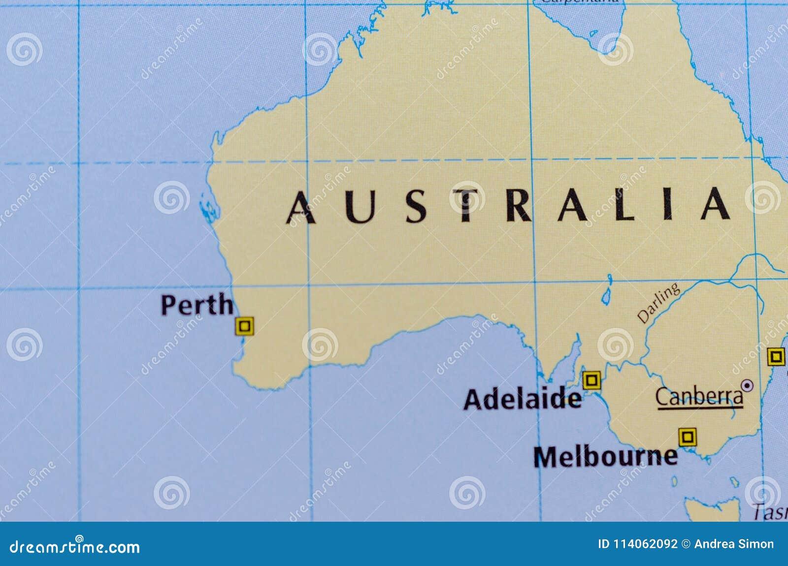 Australia en mapa