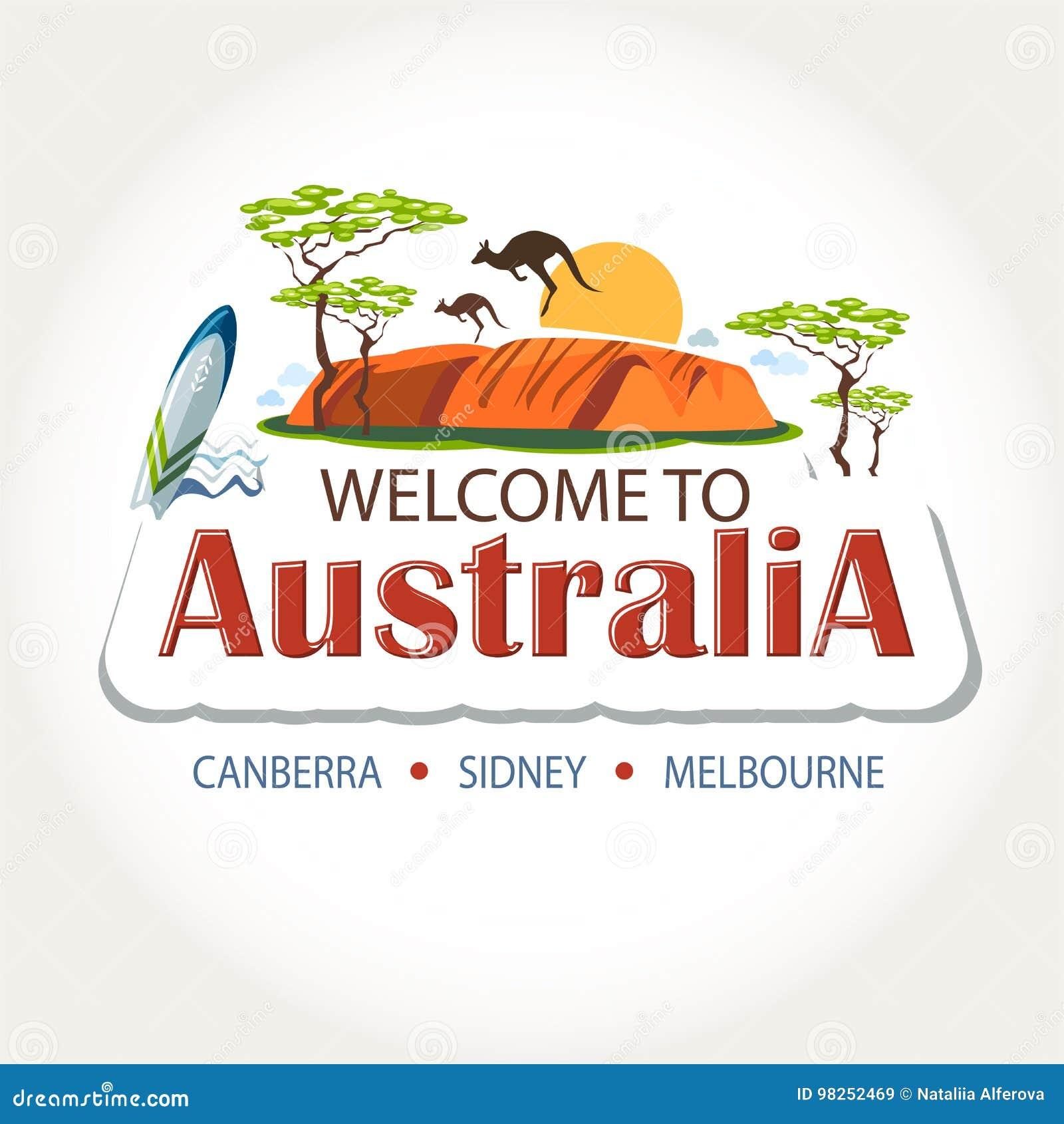 Australia features header stock vector  Illustration of
