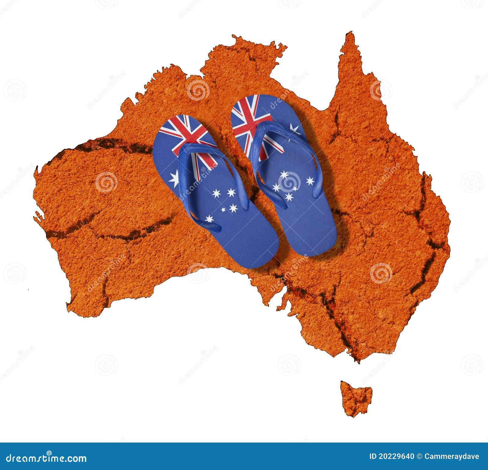 Australia Flag Thongs