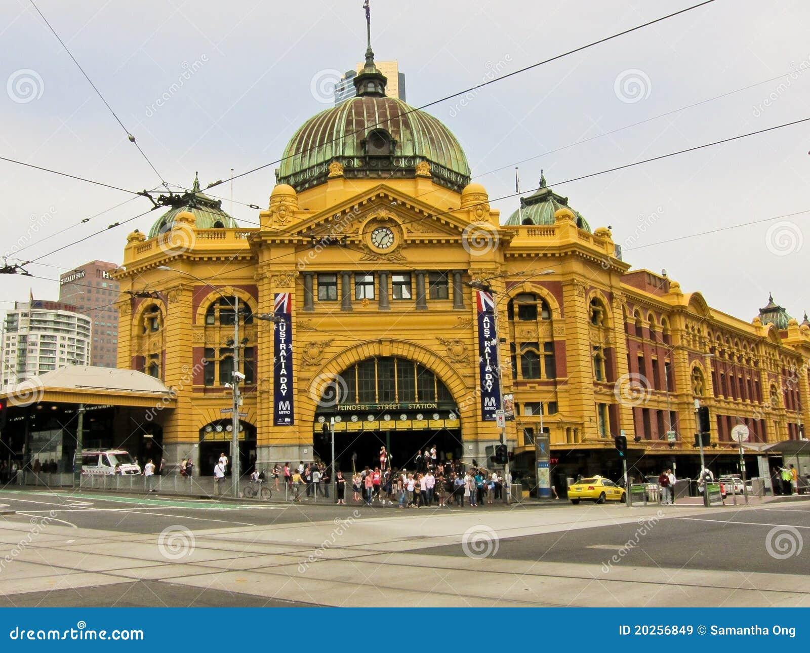 Australia flinders Melbourne stacyjna ulica
