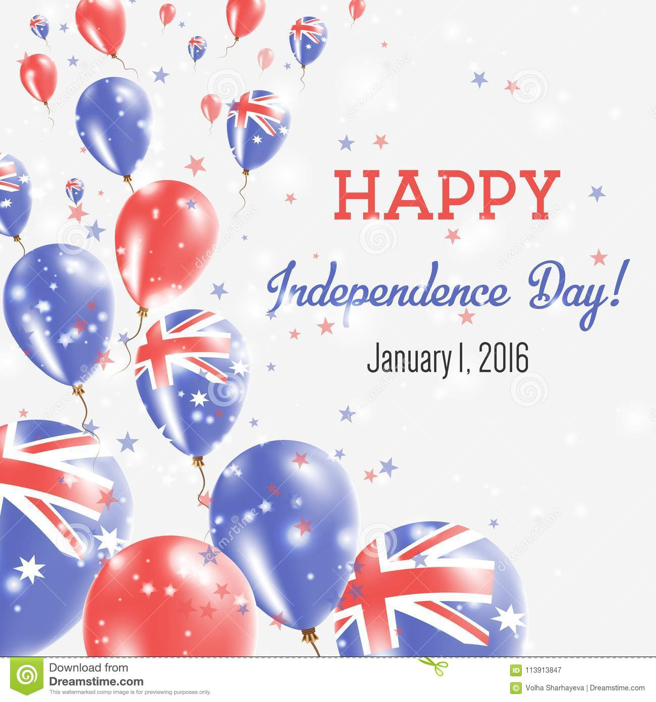 Australia Independence Day Greeting Card Stock Vector