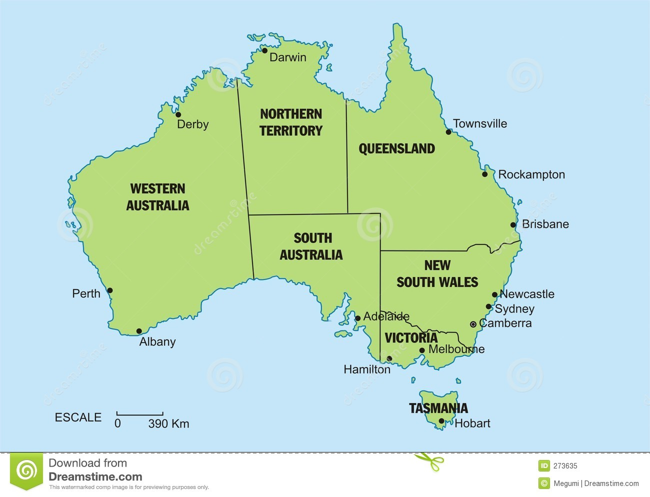 map of australia stock image image 13679011