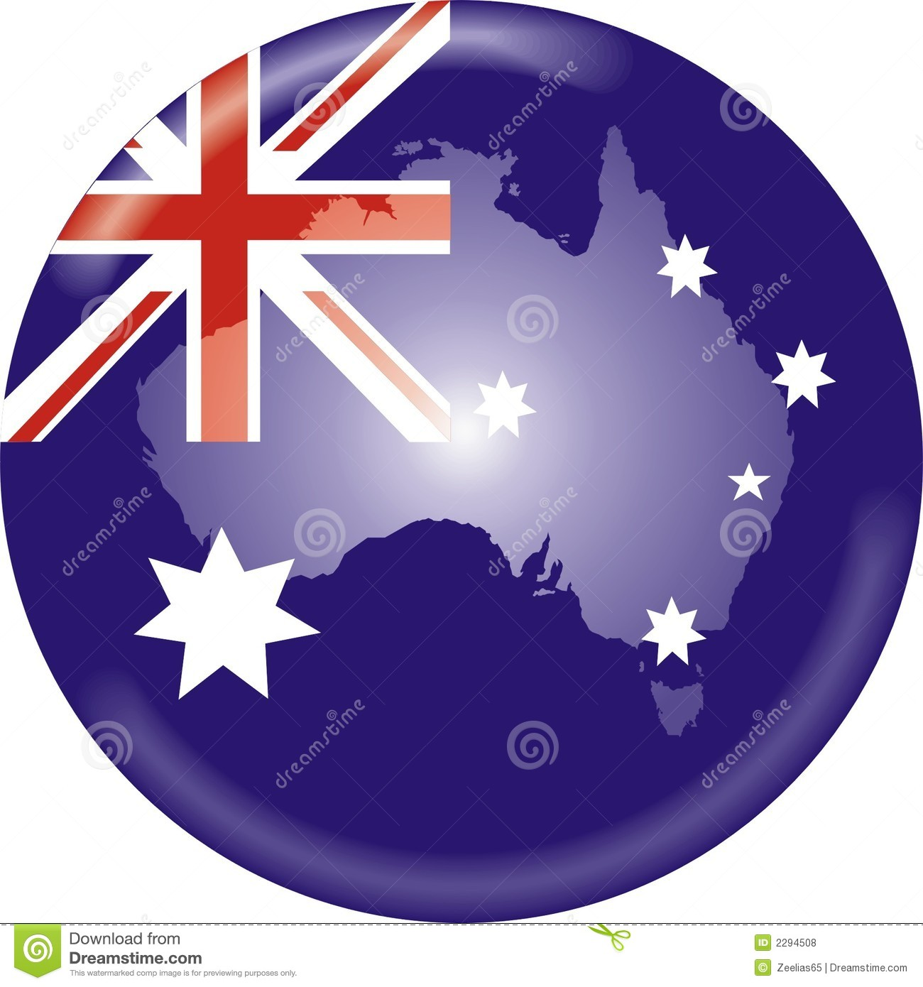 Australia Map With Flag.Australia Map And Flag Stock Vector Illustration Of Design 2294508