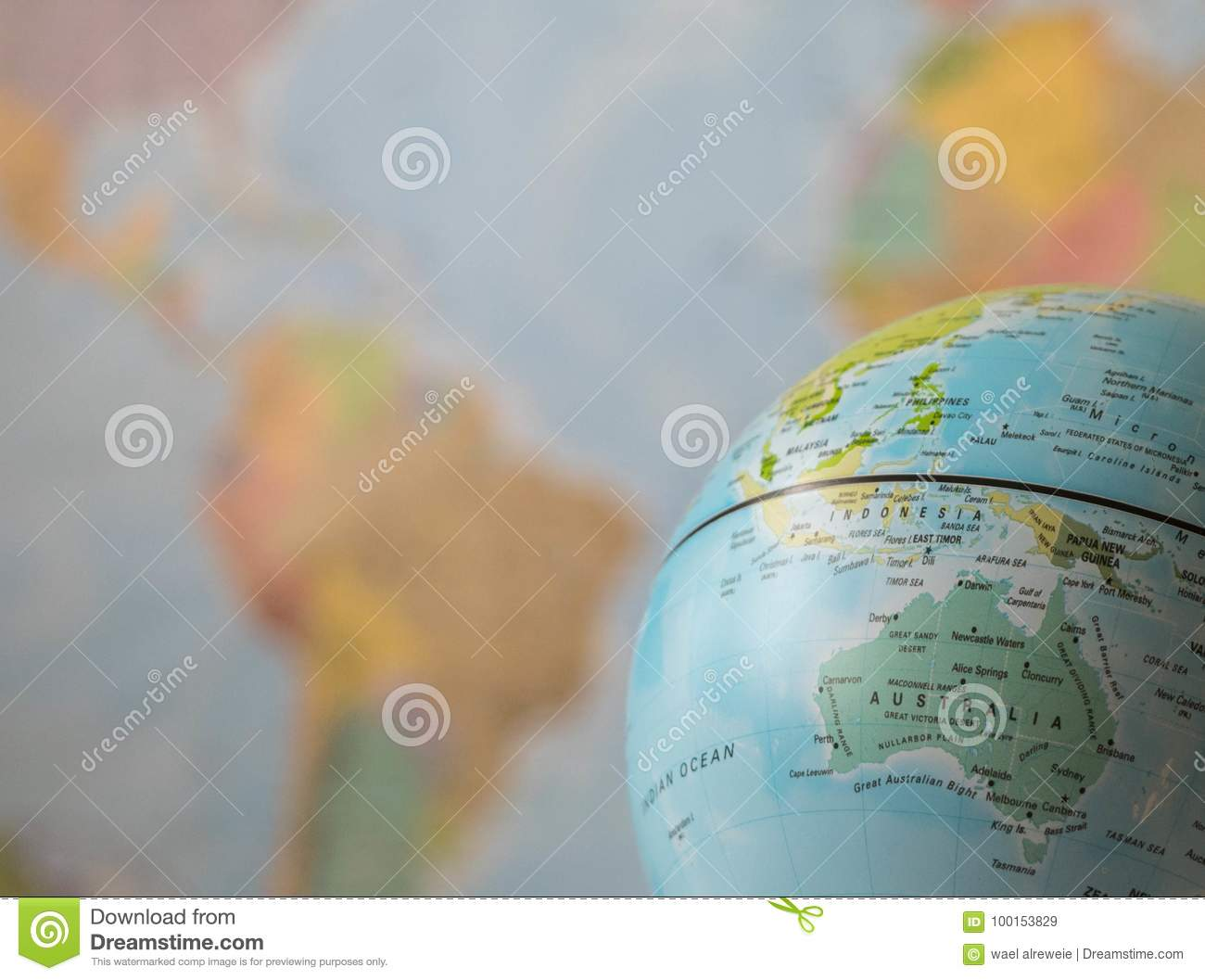 Australia Map Globe.Australia Map On A Globe Stock Image Image Of Color 100153829