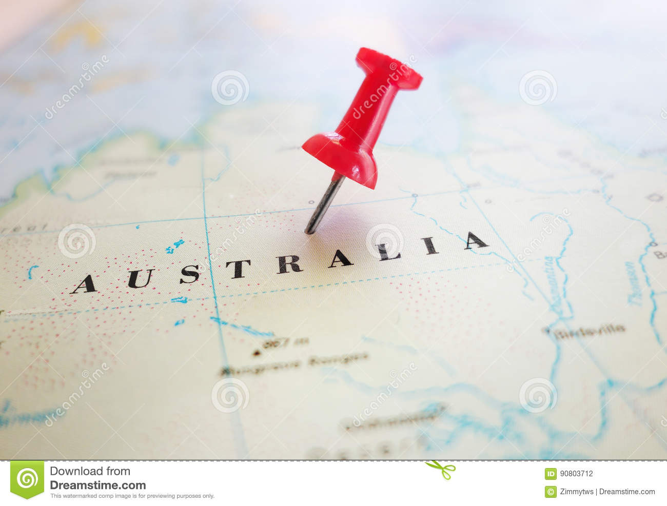 Direction Map Australia.Australia Map Pin Stock Photo Image Of Discover Direction 90803712