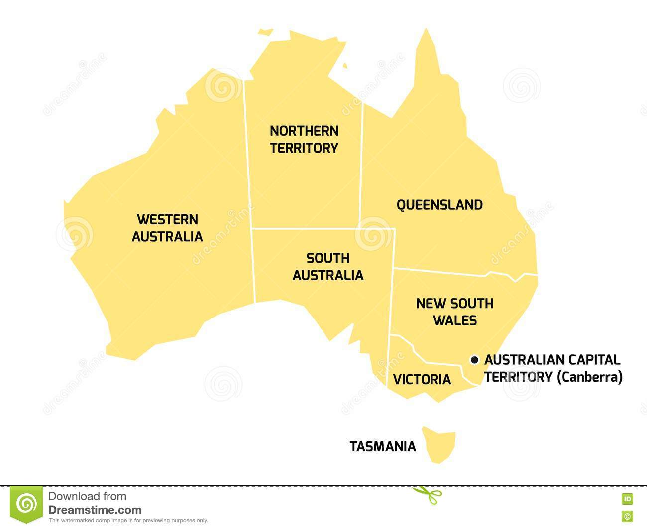 Maps Update 1200867 Territories of Australia Map Map of – Map of the States of Australia