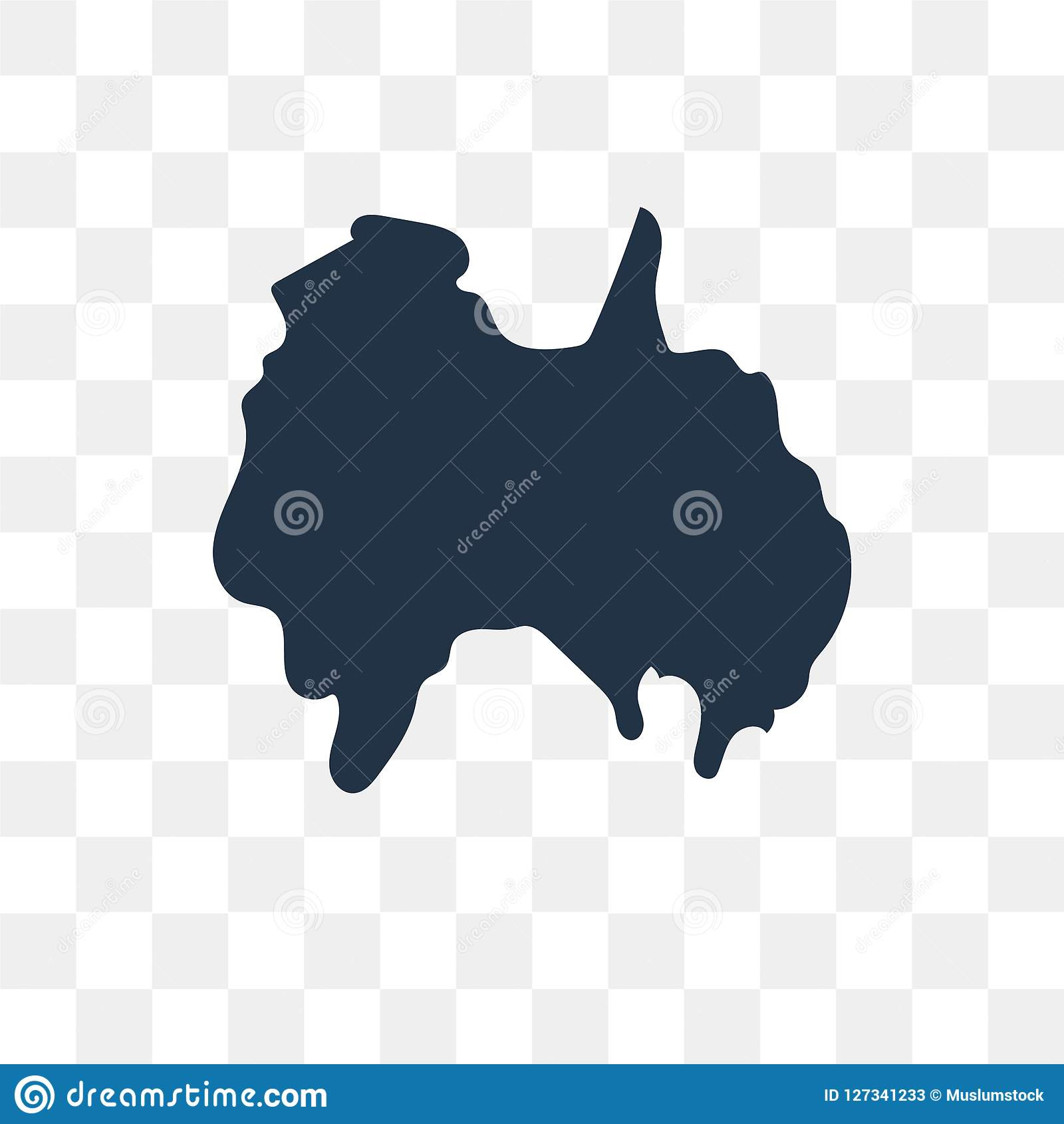 Australia Map Vector.Australia Map Vector Icon Isolated On Transparent Background Au