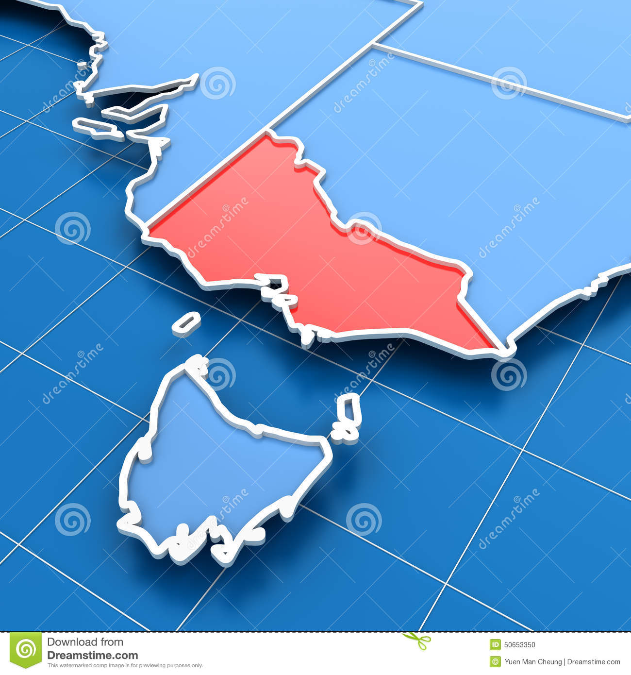 Victoria In Australia Map.Australia Map With Victoria State Highlighted Stock Illustration