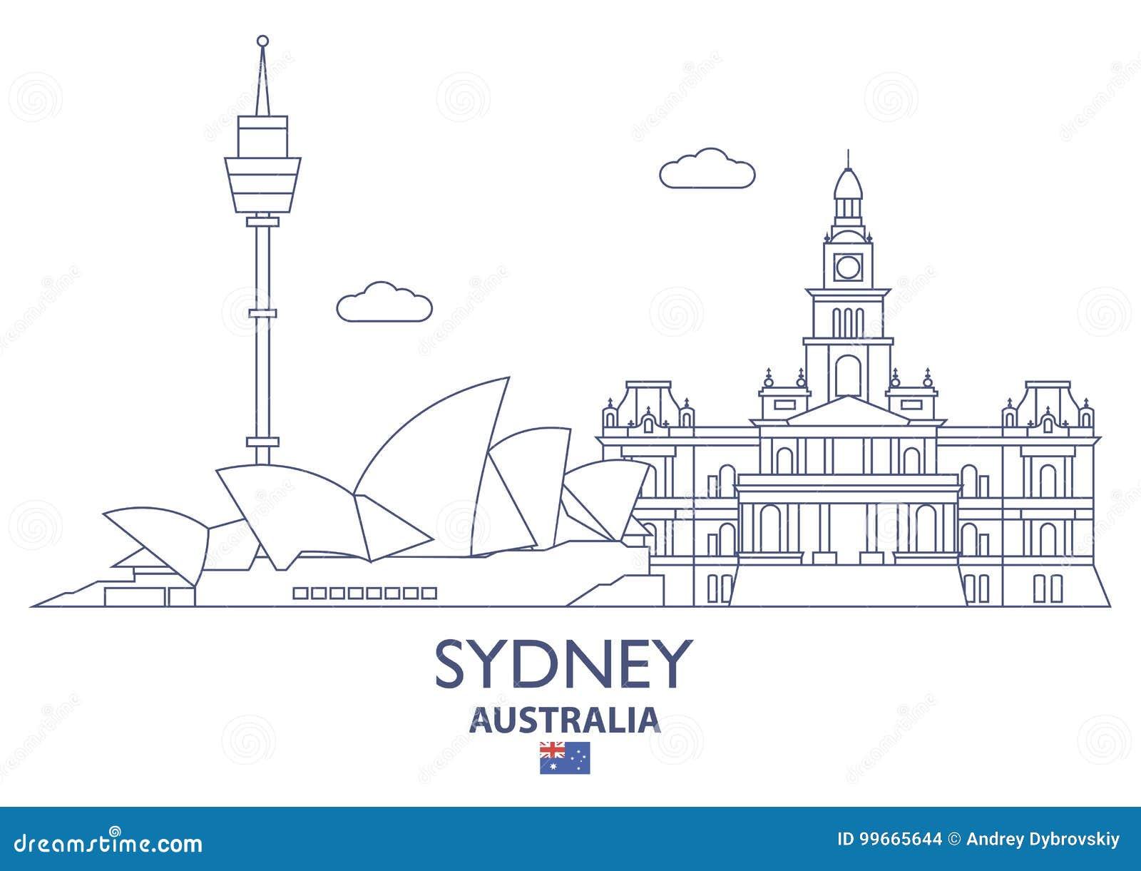 Australia miasta linia horyzontu Sydney