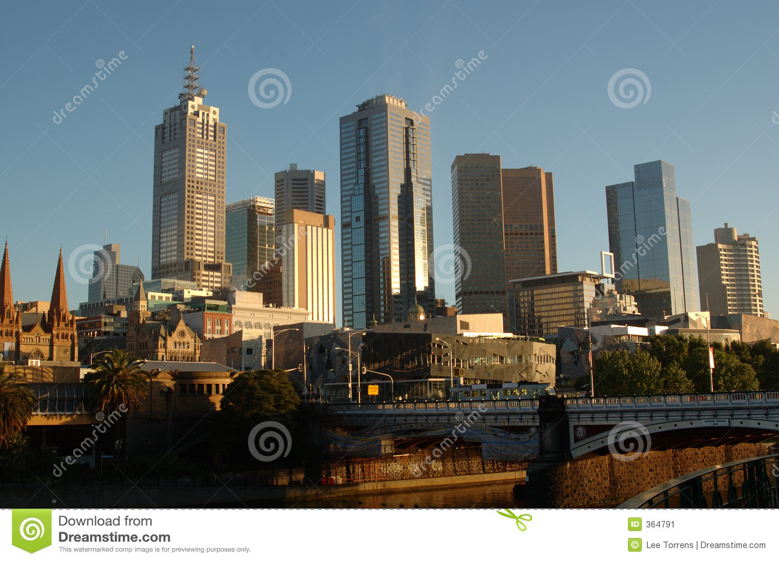 Australia miasta Melbourne wschód słońca