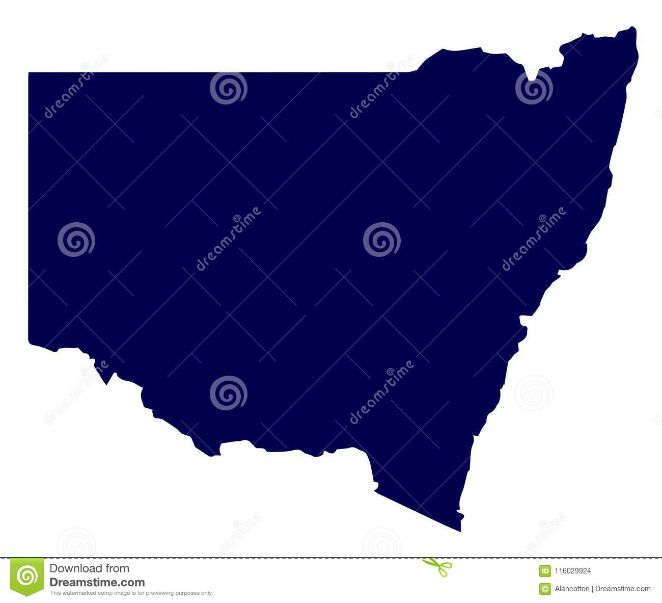 Picture of: Australia New South Wales State Silhouette Stock Vector Illustration Of Vector Wales 116029924