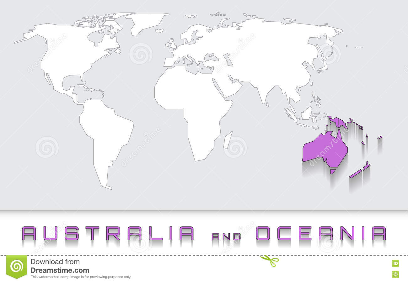 Australia and oceania on the map stock vector illustration of australia and oceania on the map gumiabroncs Gallery