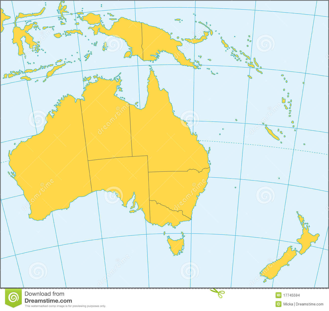 Australia And Oceania Political Map Stock Images Image - Map oceania