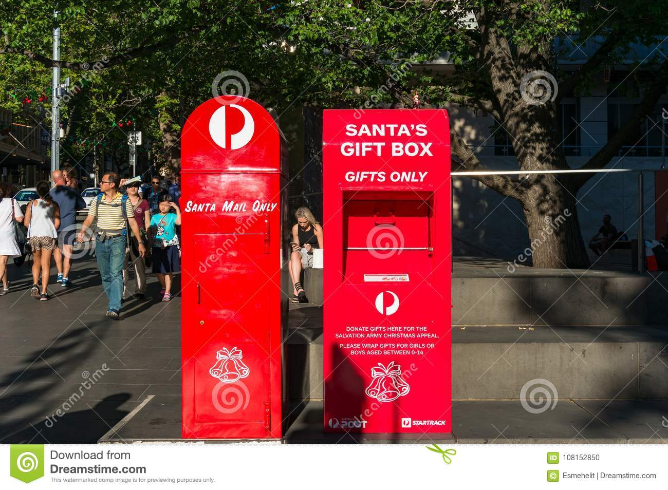Australia post mailbox santa letters and santa gift box editorial download australia post mailbox santa letters and santa gift box editorial image image of spiritdancerdesigns Images