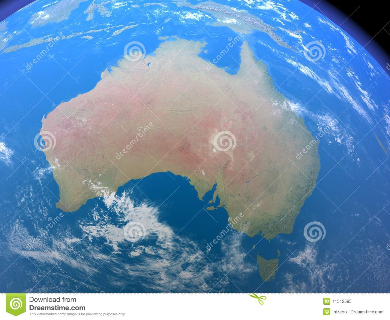 Australia From Space Royalty Free Stock Photo - Image: 11512585