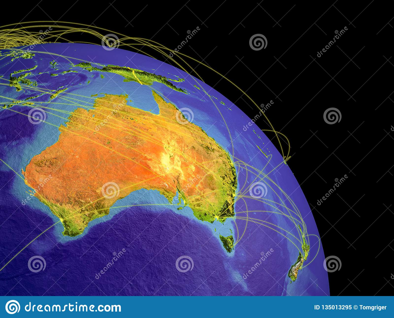 Map Of Australia From Space.Australia From Space Stock Illustration Illustration Of Space