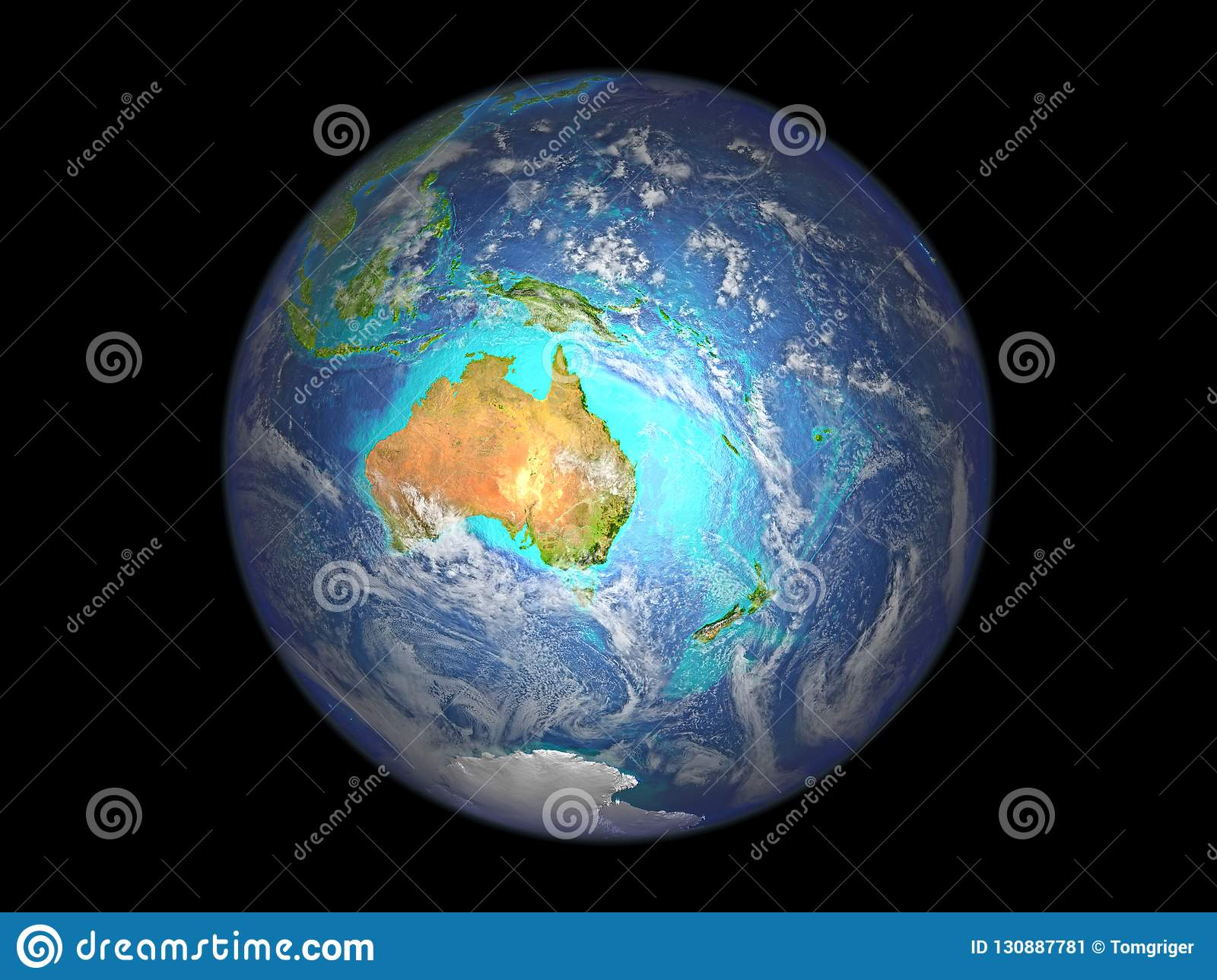 Map Of Australia From Space.Australia From Space Stock Illustration Illustration Of Isolated