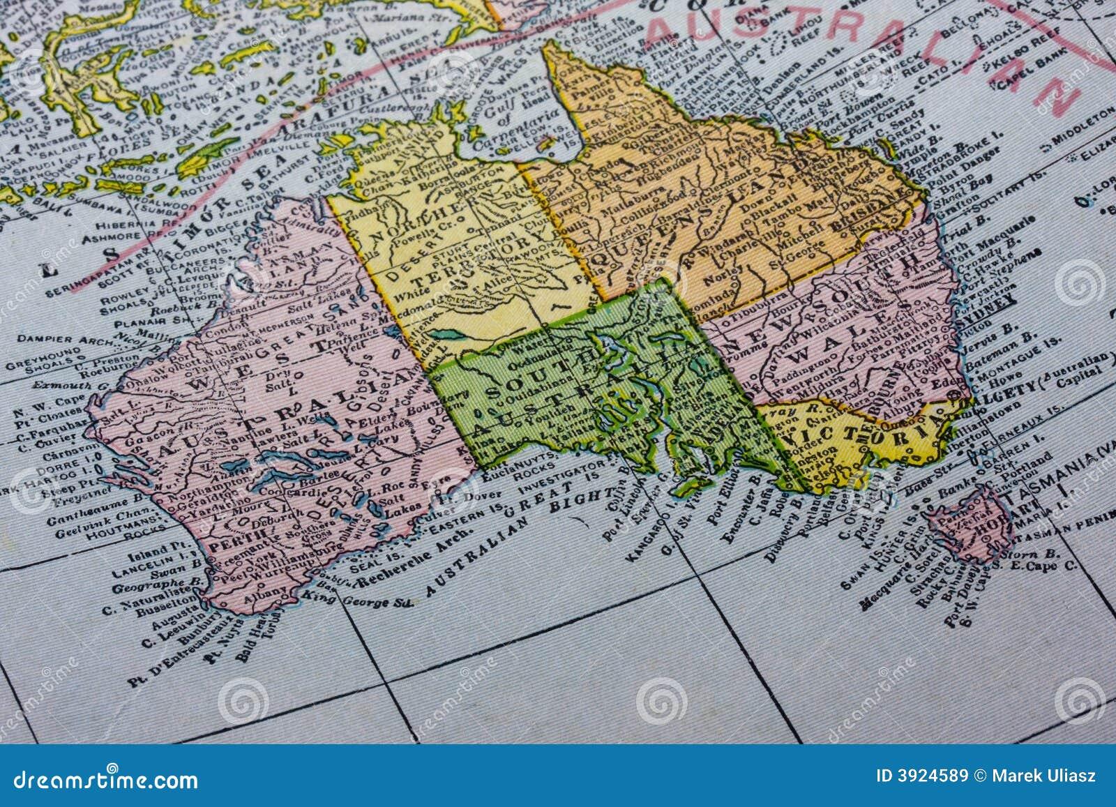 Map Of Australia And Tasmania.Australia With Tasmania Map Stock Image Image Of Australia