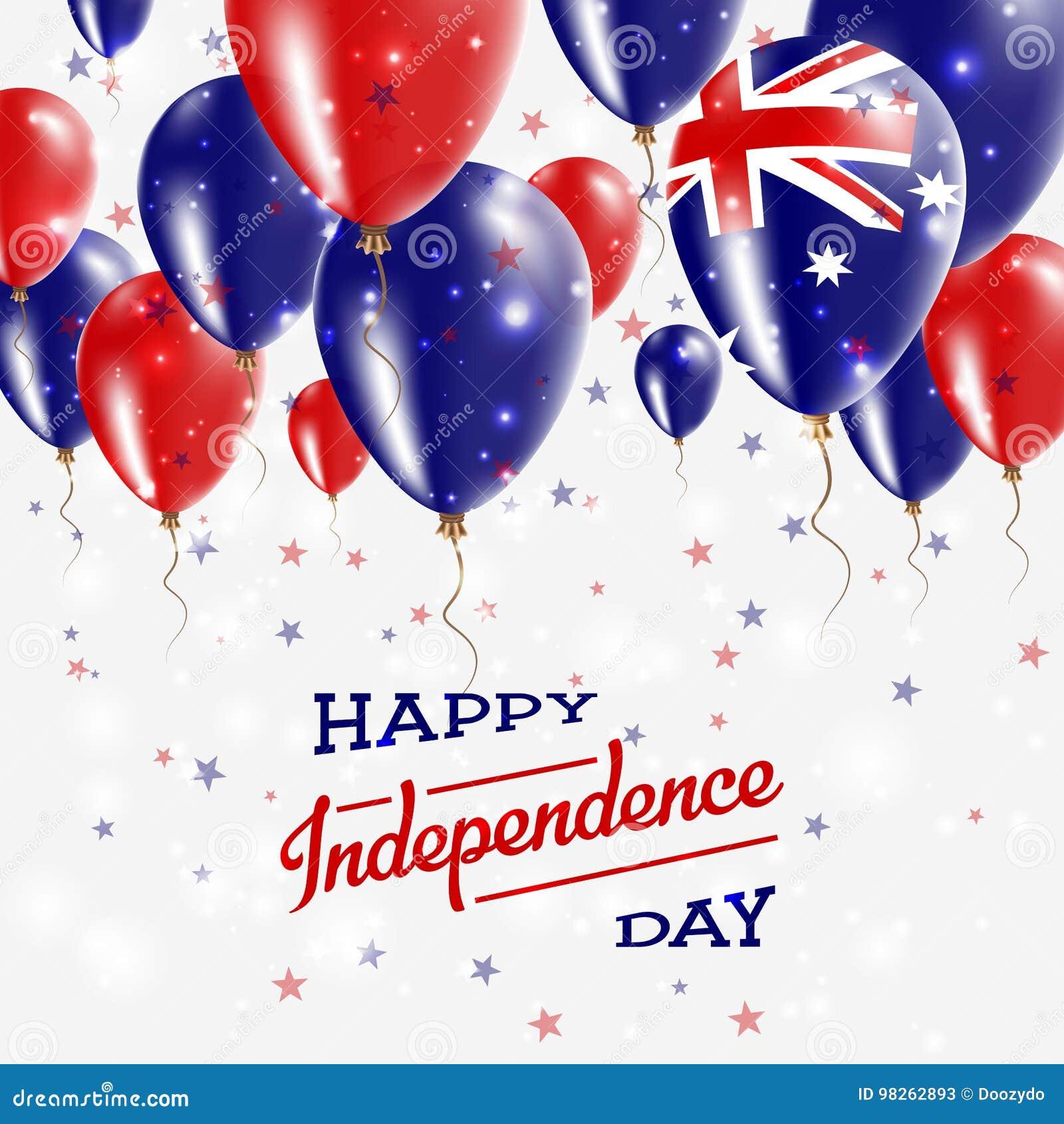 Australia Vector Patriotic Poster Independence Stock Vector