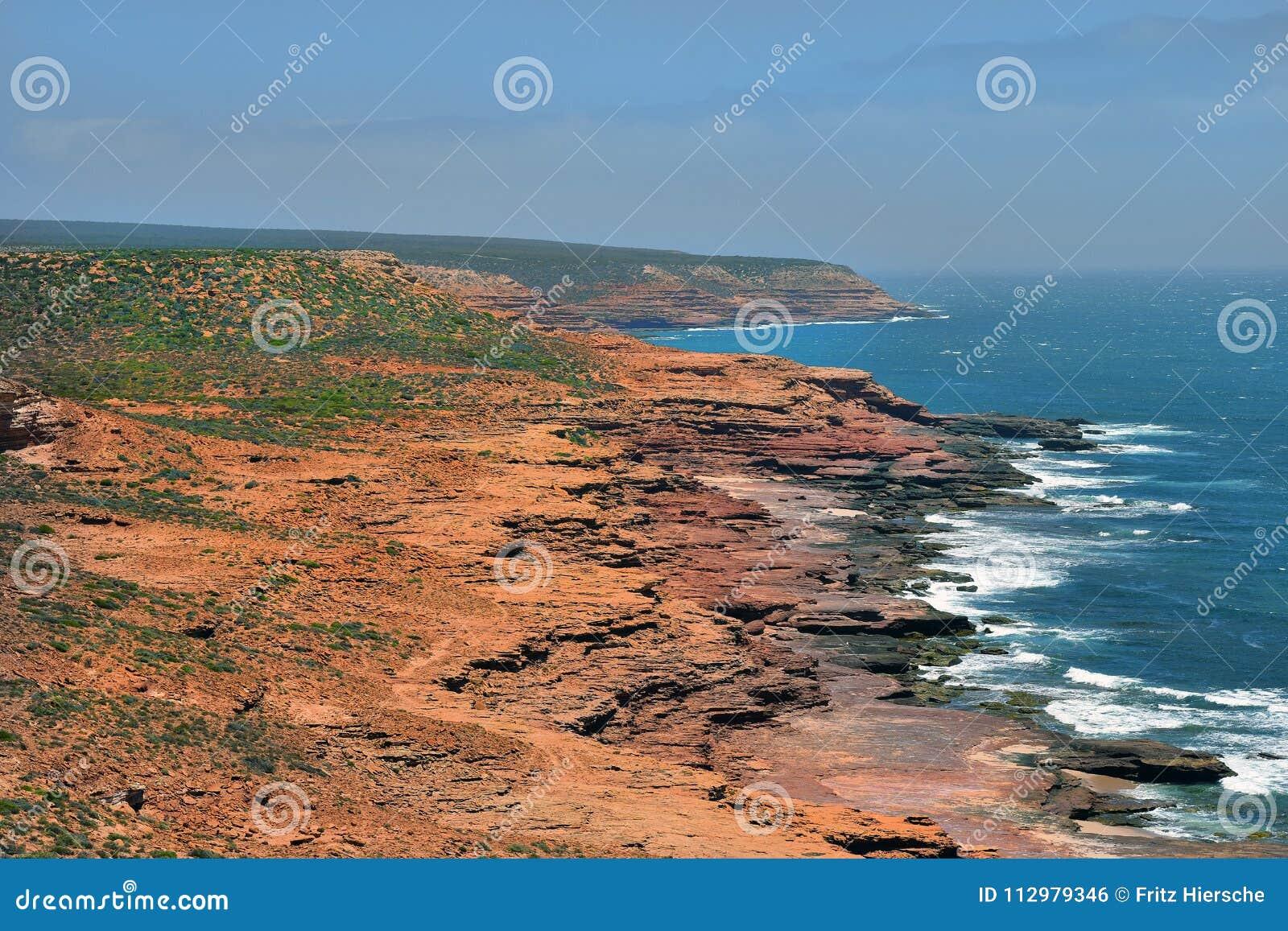 Australia, WA, Kalbarri NP on Indian Ocean
