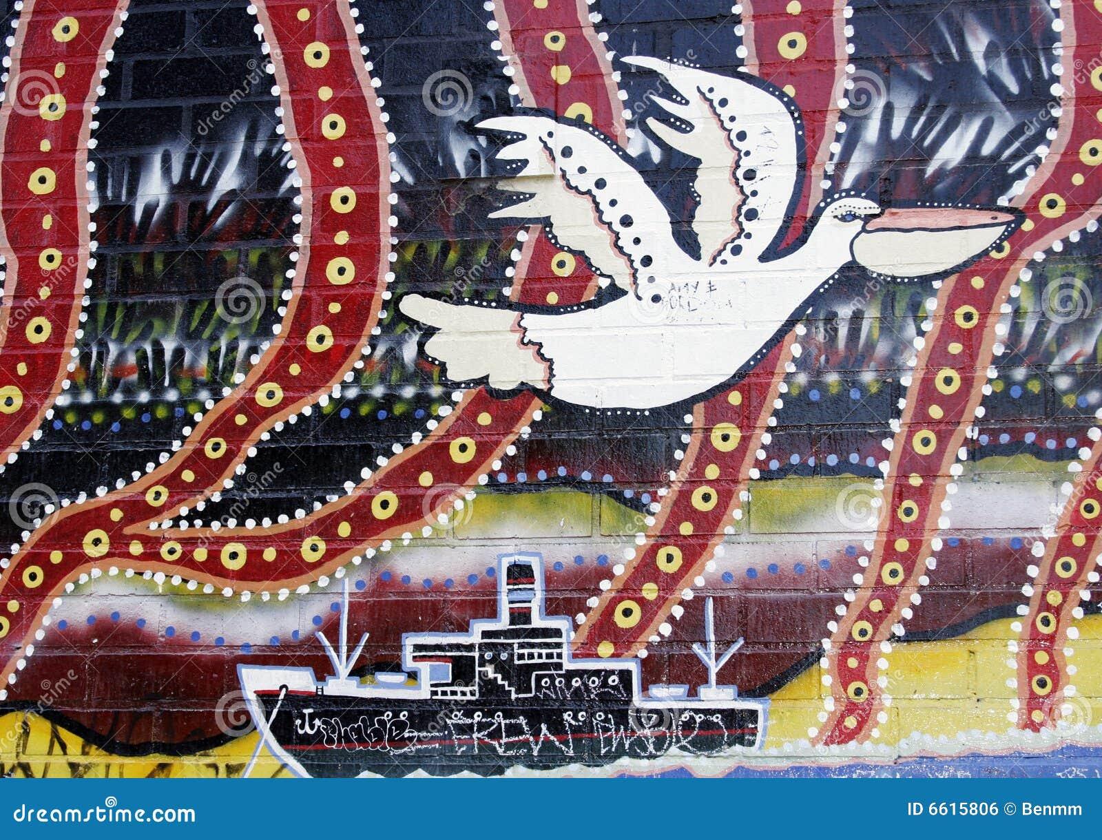Australian aboriginal art mural stock photo image 6615806 for Australian mural