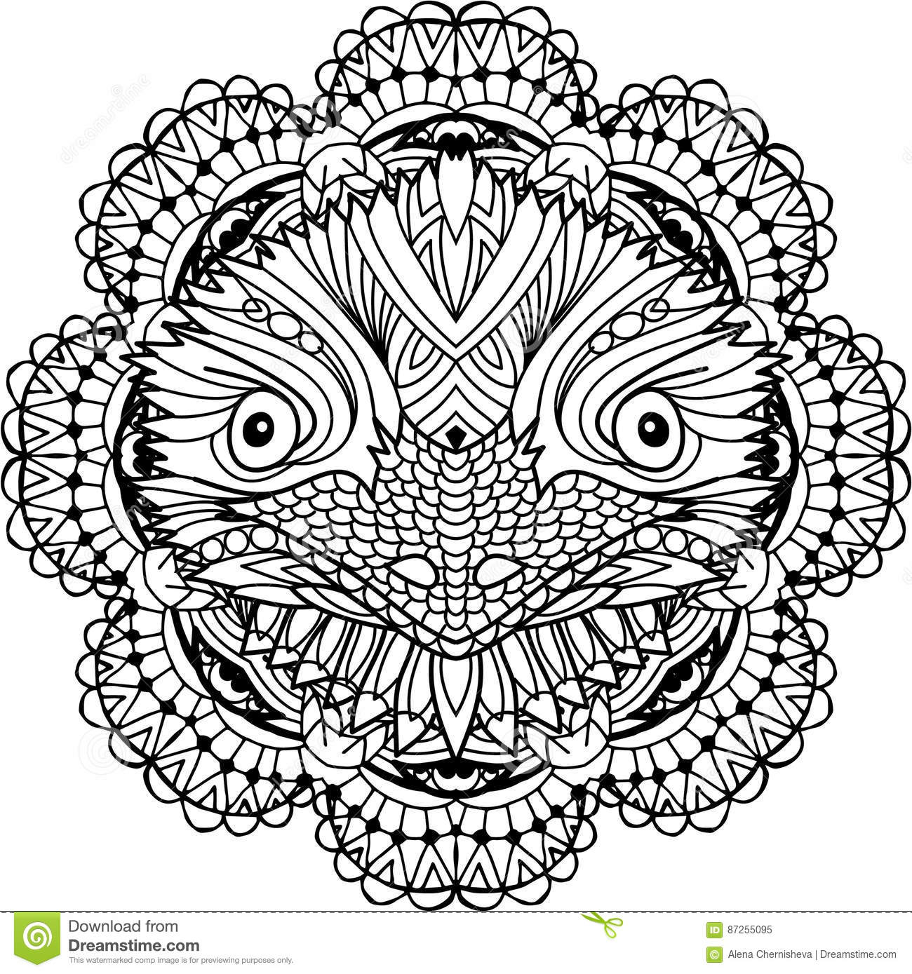 Coloring Page For Adults Australian Animal The Head Of A Emu With Patterns Monochrome Ink Line Art Tattoos And Other Designs Zenart