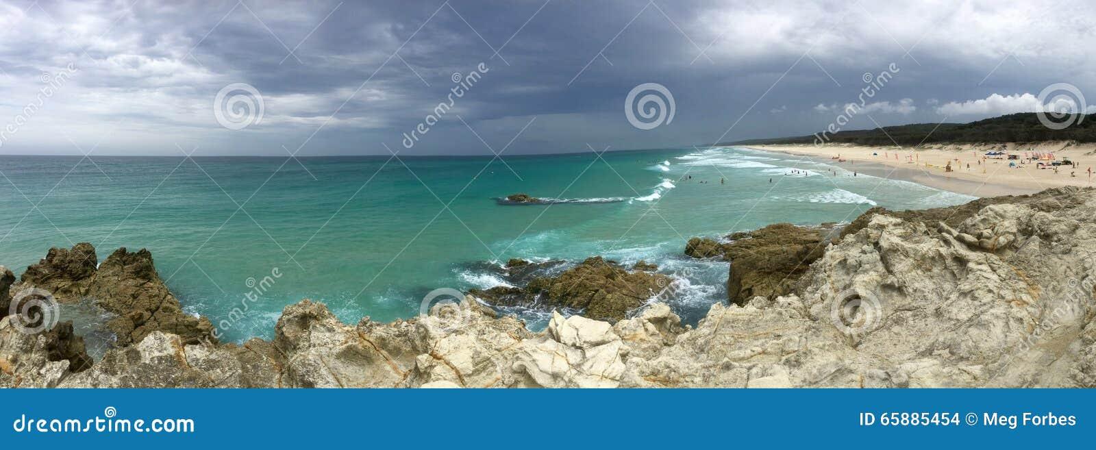 Australian beach storm
