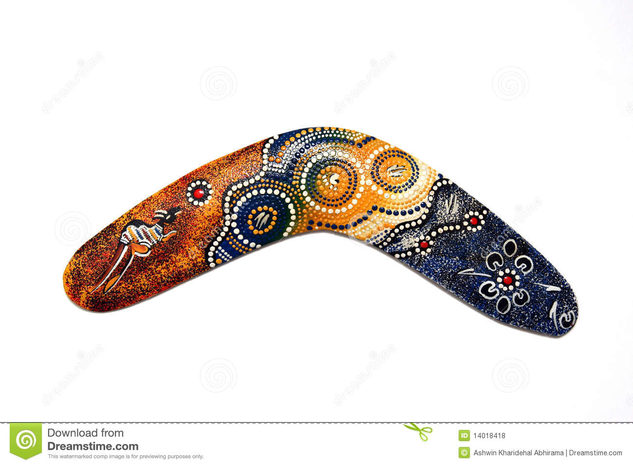 Australian Boomerang. Royalty Free Stock Photos - Image: 14018418