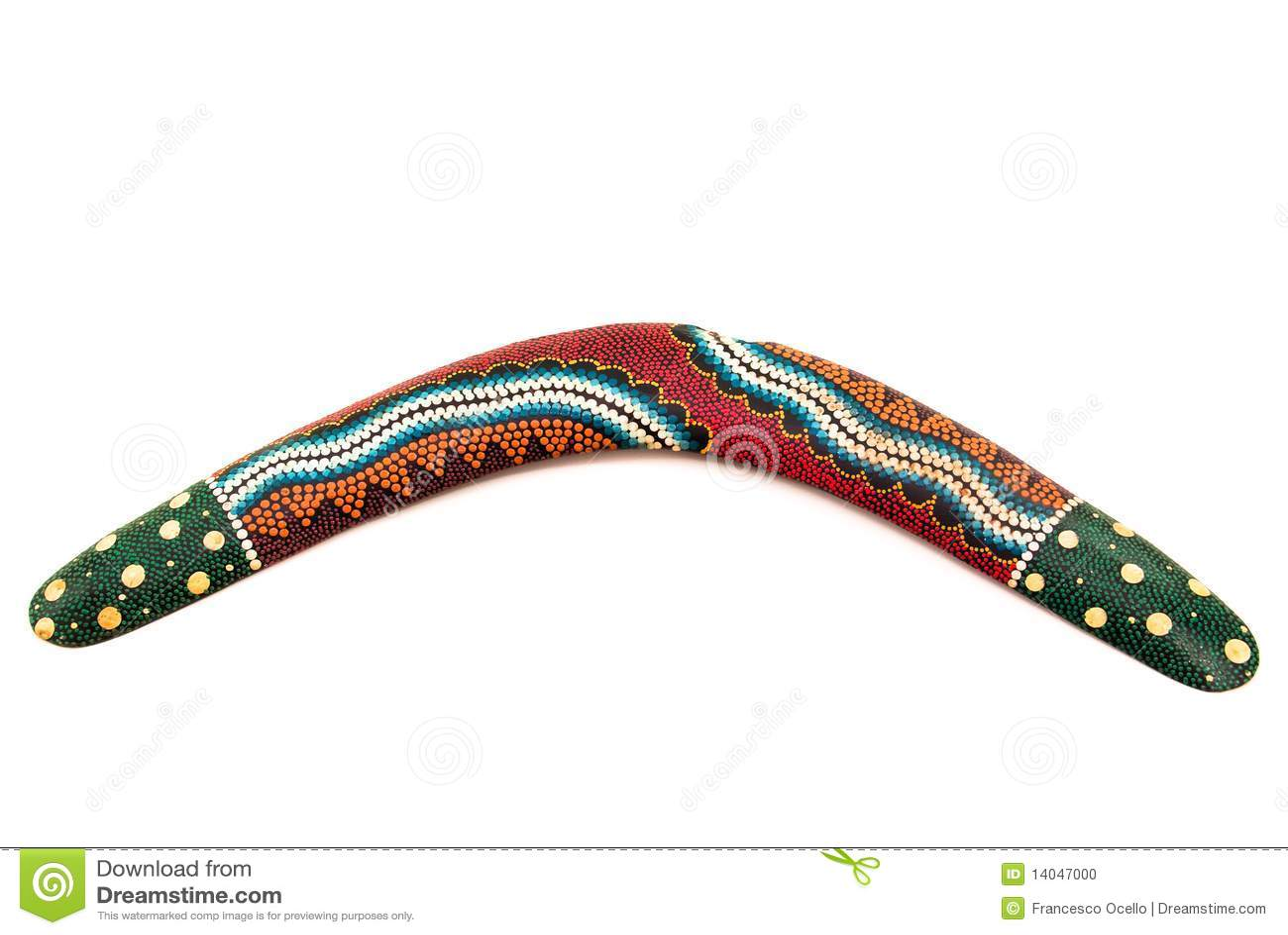 Australian boomerang stock photo image 14047000 for Australian boomerang template