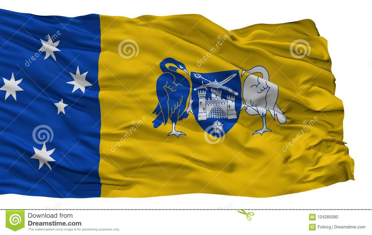 Australian Capital Territory City Flag, Australia, Isolated On White Background